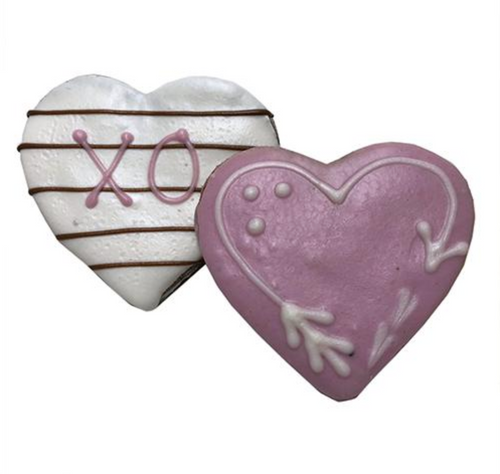 Love Heart Dog Cookies (Case of 12 Treats)