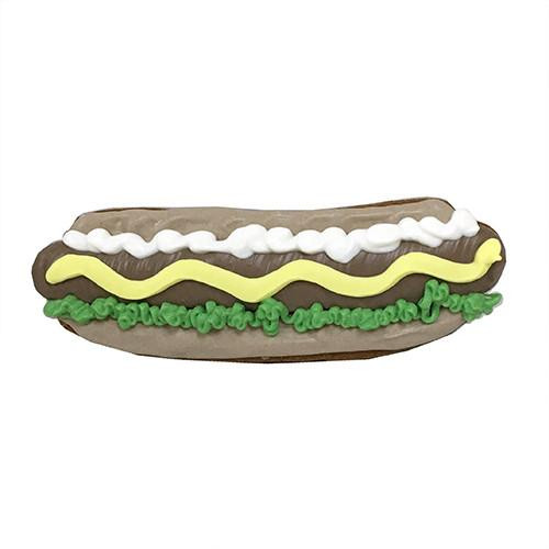 Hot Dog Shaped Dog Cookies (Case of 12 Treats)