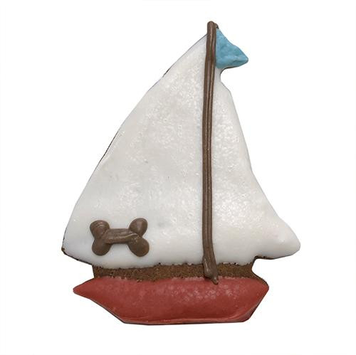 Sail Boat Shaped Dog Cookies (Case of 12 Treats)