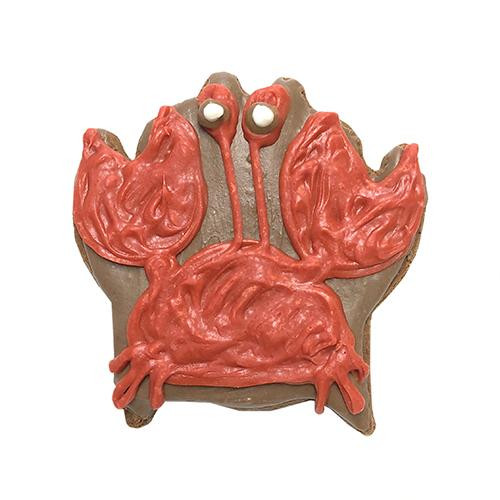 Crab Shaped Dog Cookies (Case of 12 Treats)