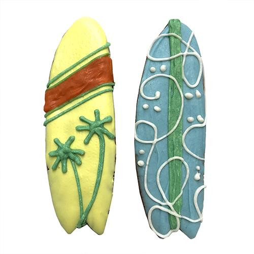 Surf Board Shaped Dog Cookies (Case of 12 Treats)