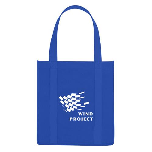 Non-Woven Reusable Tote Bags - Royal Blue
