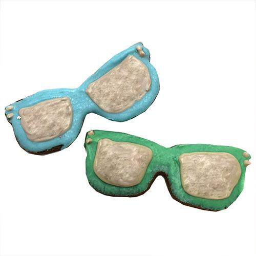 Sunglasses Shaped Dog Cookies (Case of 12 Treats)