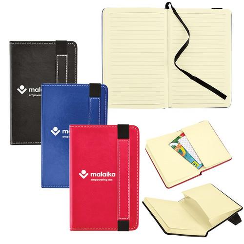 Bound Journal w/Expandable Pocket - 3 x 5