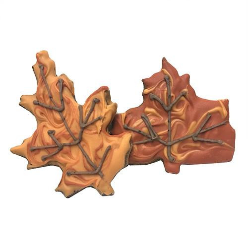 Autumn Leaves Dog Cookies (Case of 12 Treats)