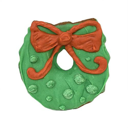 Christmas Wreath Dog Cookies (Case of 12)