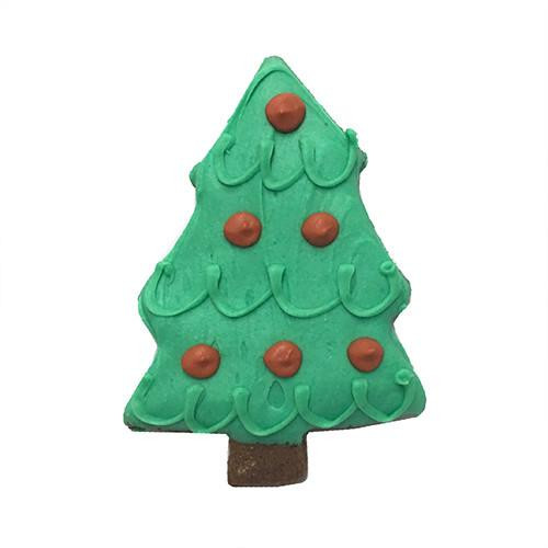 Christmas Tree Dog Cookies (Case of 12)