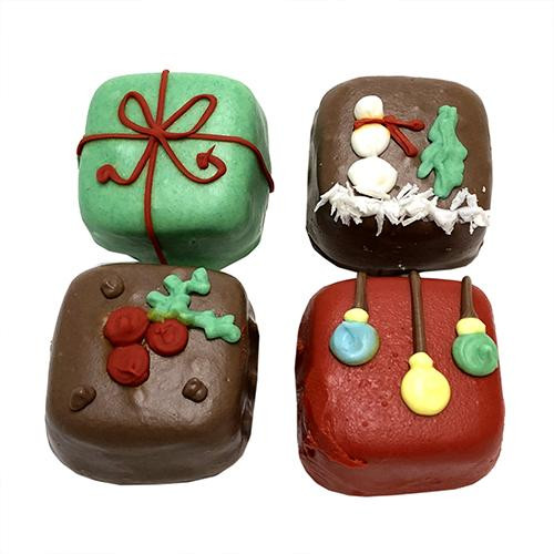 Christmas Cake Bites Dog Treats (Case of 12)