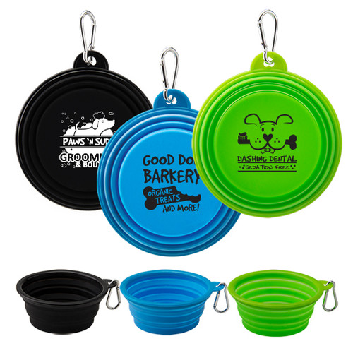Collapsible Silicone Travel Pet Bowl