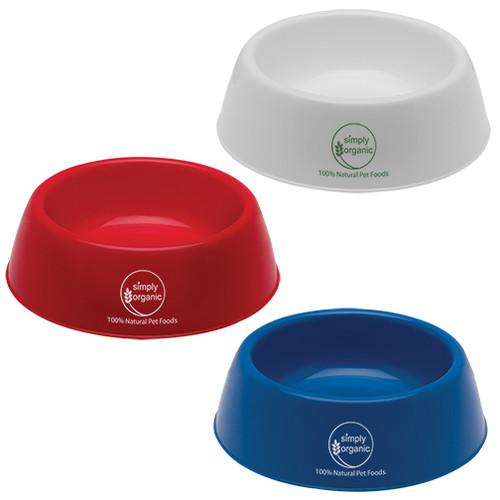 Plastic Pet Bowls with Custom Promotional Imprint