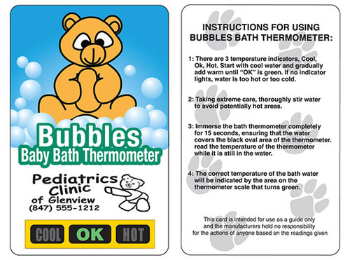 Teddy Bear Bath Safety Thermometers