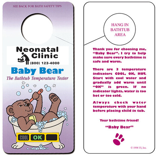 Baby Bear Hanging Bath Safety Thermometers