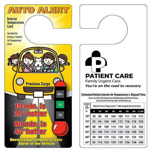 Custom Printed Auto Alert Thermometer - Car Temperature Safety