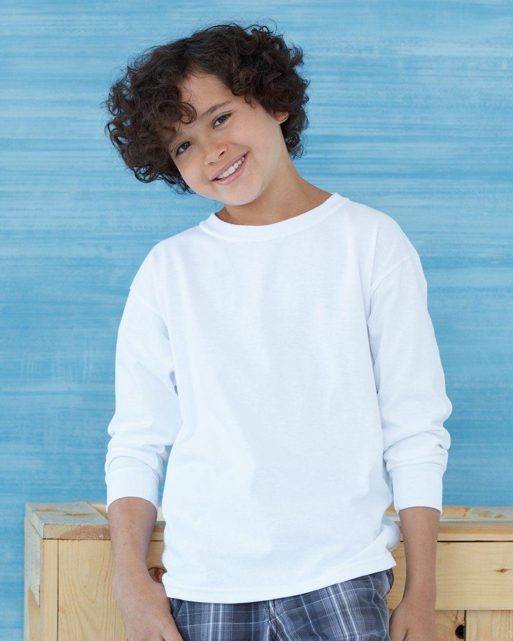 Custom Printed Kids Long Sleeve T Shirts Screen Printed Shirts