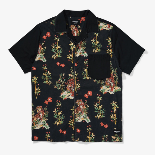 Jared Mell Short Sleeve Woven Dirty Black