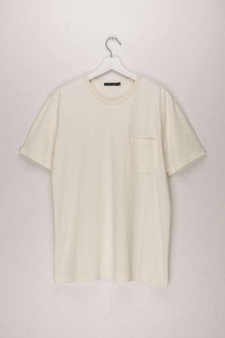 Base Jersey Short Sleeve Pocket Crew Ecru