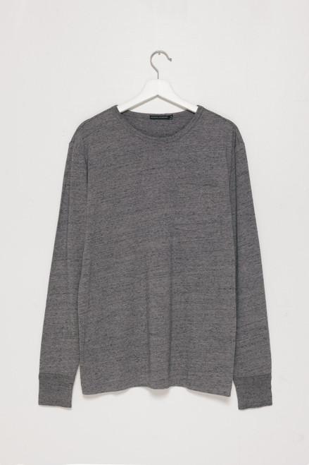 Base Jersey Long Sleeve Crew Melange Dark Grey