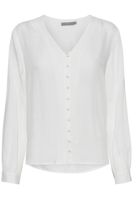 Ginny V-Neck Shirt Off White