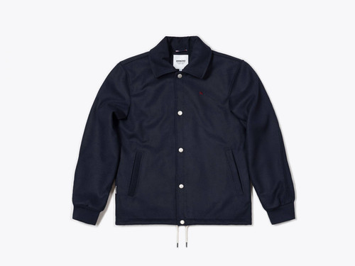 Galway Vegan Coach Jacket Navy Blue