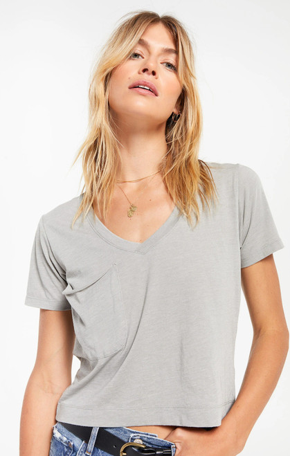 The Classic Skimmer Crop T-Shirt Dusty Sage