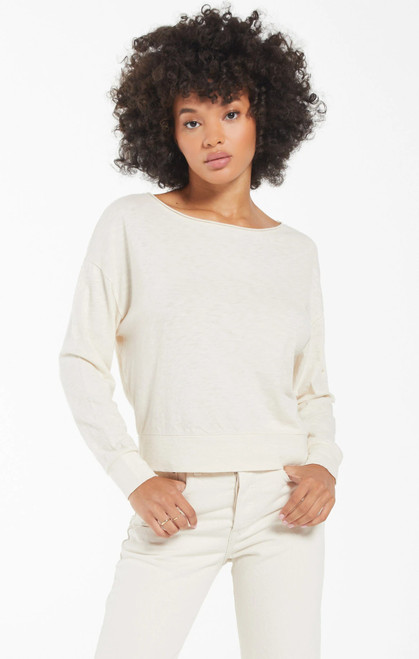Naiser Slub Long Sleeve Top Bone