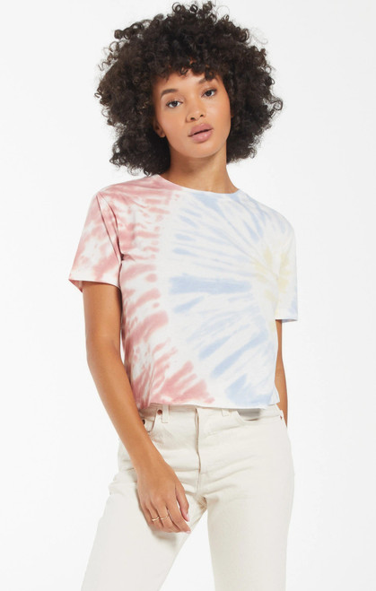 Sol Off Set Tie Dye T-Shirt White