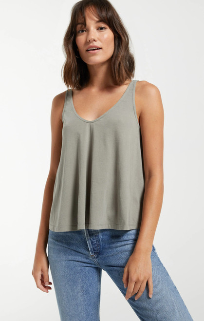 Heather Organic Tank Dusty Sage