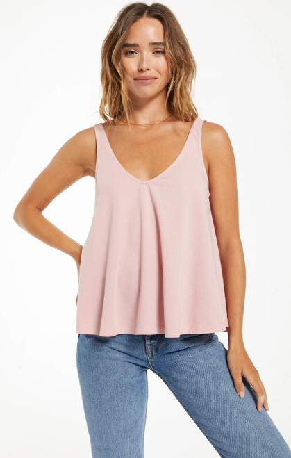Heather Organic Tank Pale Mauve