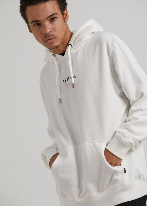Fight Pull Over Hoodie Blanc