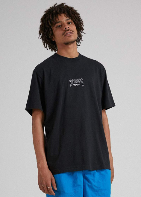 Recycled Retro Fit T-Shirt Black