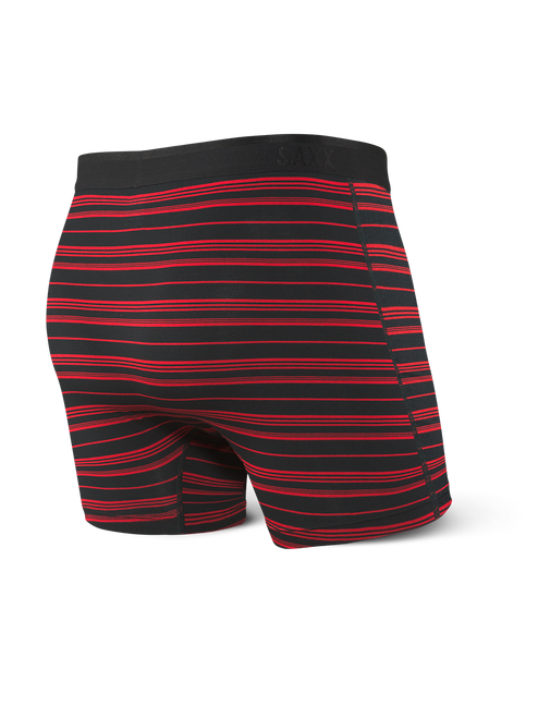 Platinum Boxer Brief Fly Black/Red Tidal