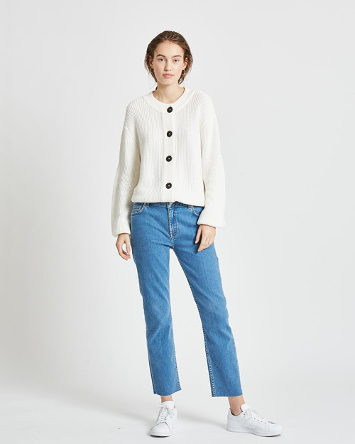 Affie Jumper Cardigan Broken White