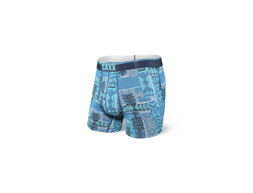 Quest Boxer Brief Fly Blue Patchwork