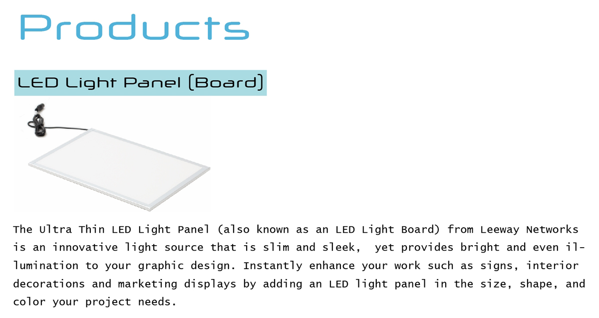 LED Light Panel (Board)