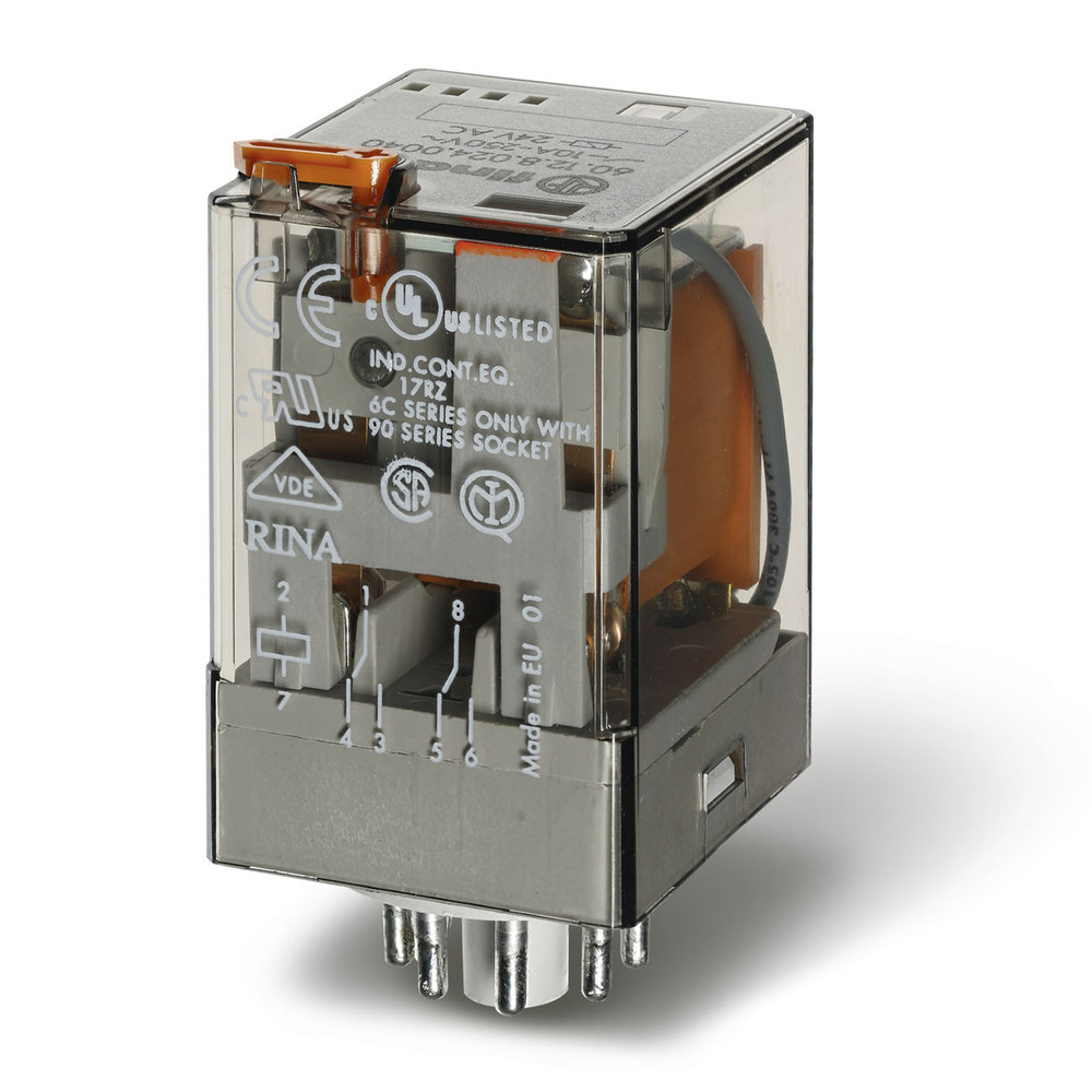 FINDER 60 Series 2Pole 8Pin 10Amp 220/230V AC Relay