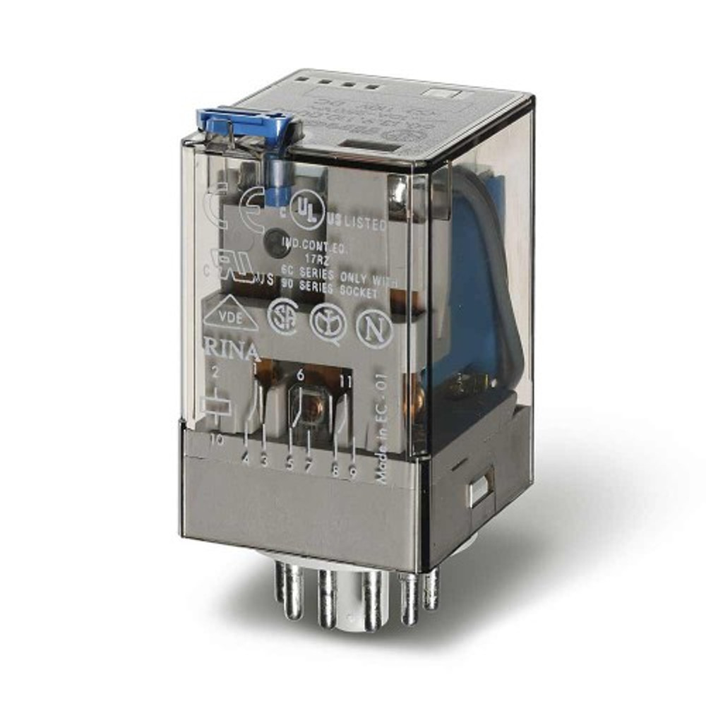 FINDER 60 Series 3Pole 11Pin 10Amp 12V DC Relay