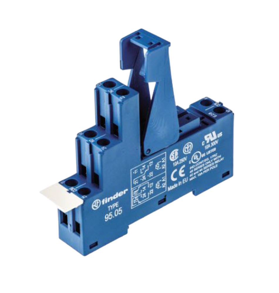 FINDER 95 Series 2 Pole Relay Base for 40 Series Relays