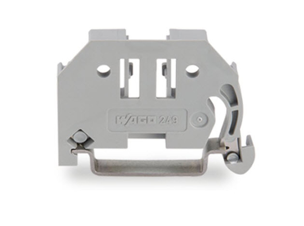 Wago End-Stop Screwless Snap-on 6mm Wide for T35 Din Rail - Grey; Bag Qty 25