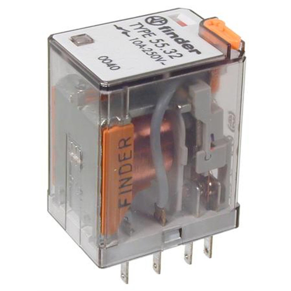 FINDER 55 Series 2 Pole 8 Pin 10Amp 24V AC Relay