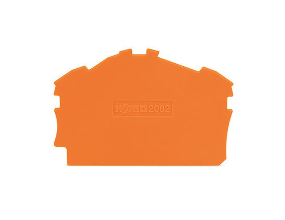 WAGO endplate for 280-6301/4/7, orange