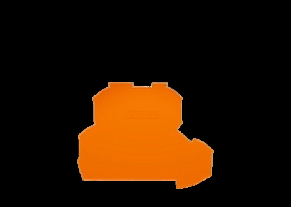 WAGO doubledeck terminal endplate,orange