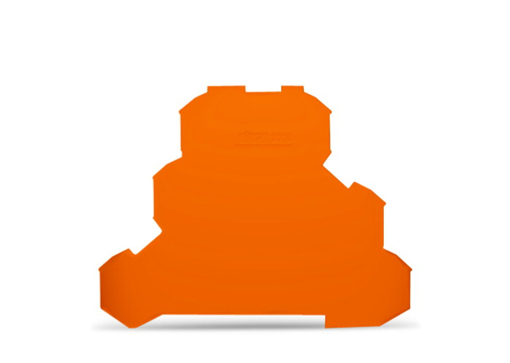 WAGO tripledeck terminal endplate,orange
