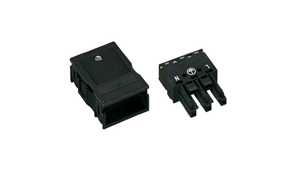 WAGO Socket; with strain relief housing; 3-pole