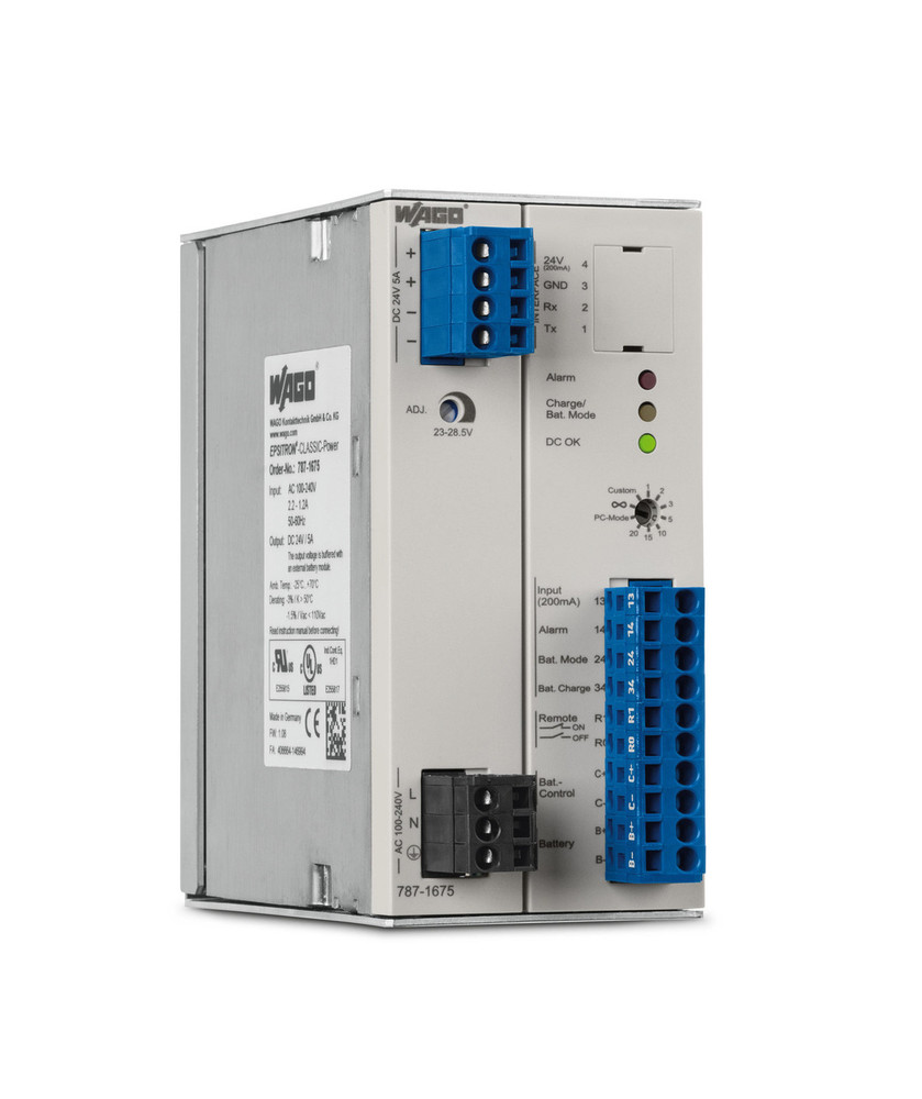 WAGO EPSITRON® CLASSIC Power Supply and UPS Units 24VDC 5Amp