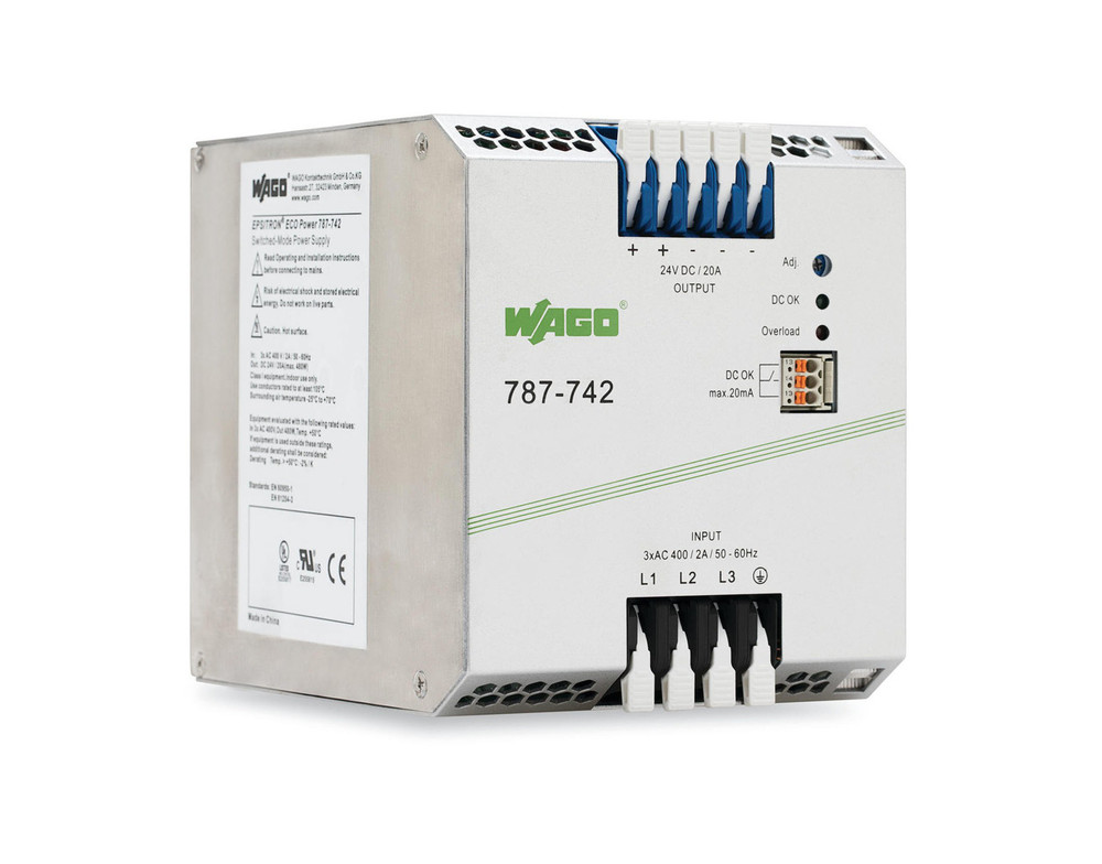 WAGO EPSITRON® ECO 3Phase Power Supply Units 24VDC 20Amp Version