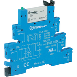 FINDER 38 Series 1 Pole Slimline 230Vac Relay & Base, 6A