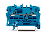 Wago TOPJOB®S Rail-mounted terminal Blue 0.75 to 2.5mm² ferruled cable; 0.75 to 4mm² Push-in Solid Conductor; Box Qty 100