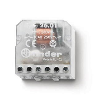 FINDER 1 phase switch, 12VAC, 10A 1NO