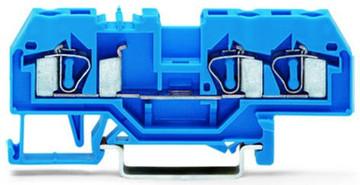 WAGO 3 conductor terminal, blue 4mm