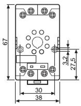 FINDER 90 Series 8 Pin Relay Base